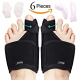 Bunion Corrector Bunion Relief Kit (Bunion Splints,Gel Toe Protect Separator Sleeves&Toe Separators) for Hallux Valgus-Day/Night Time Support for Men&Women