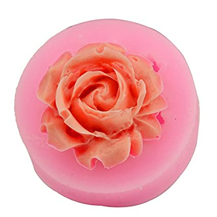 amazon com let s diy rose shape candy jello 3d silicone mold mould