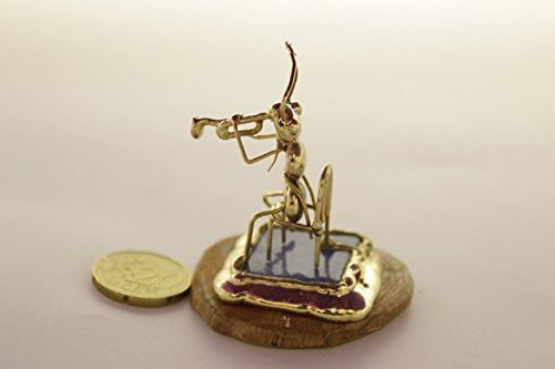 Ant Miniatures (Handmade Ant sitting Plays the Trumpet Miniature,collectible musical miniature animals)