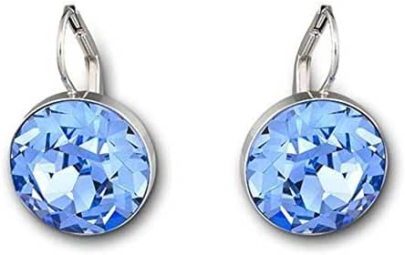 Swarovski Crystal Light Sapphire Bella Pierced Earrings