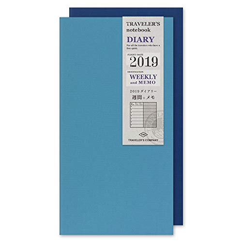Midori Traveler's Notebook Refill 2019 Weekly+MEMO (Regular Size) (Notebook Weekly Large)