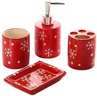 Amazon Com Christmas Gift 4 Piece Bath Ensemble Bathroom Accessory Sets Bath Home Kitchen