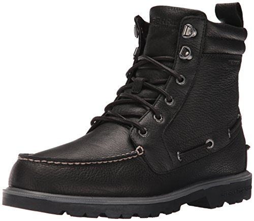 Sperry Lug New Boot Leather, Stivali a metà Gamba con Imbottitura Pesante Uomo Nero (Nero (Nero))