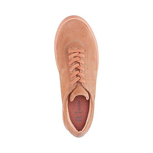 Unifarben Dunkel La Collections Leder Redoute Nude Sneakers Aus Frau YYwZqU0