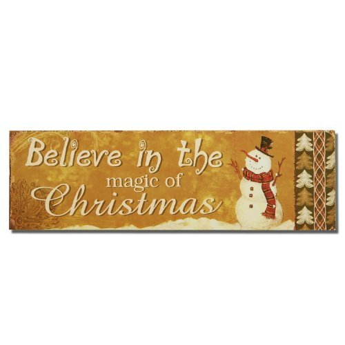 Family Wood Plaque Snowman (Adeco Decorative Christmas Wood Wall Sign Plaque