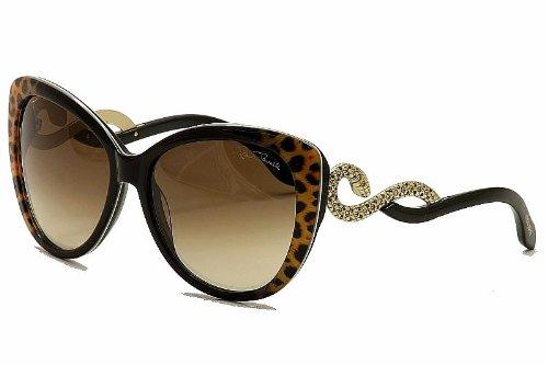 Roberto Cavalli Women's RC736S6005G Cateye Sunglasses,Black,60 mm