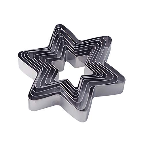 Star Cookie Cutter Set, Stainless Steel Biscuit Cutters (Star 10pcs)