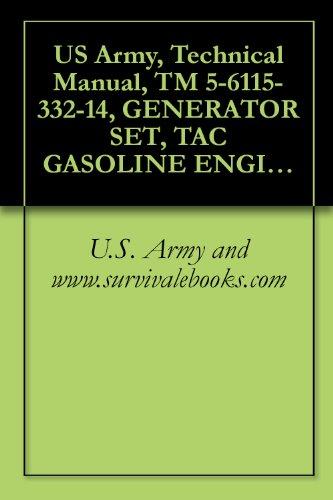 US Army, Technical Manual, TM 5-6115-332-14, GENERATOR SET, TAC GASOLINE ENGINE: AIR COOLED, 5 KW, AC, 120/240 V, SINGLE PHASE, V, 3 PHASE, SKID MOUNTED