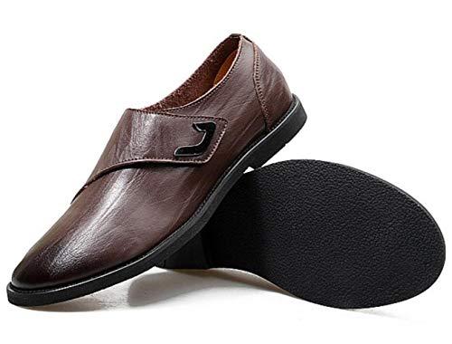 Primavera Uomo Business Scarpe Casual Scarpe in Pelle Traspirante Scarpe da Uomo Brown