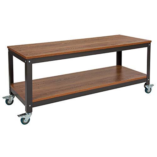 (Flash Furniture NAN-JN-2522TR-GG TV Stands/Entertainment Consoles Brown Oak)