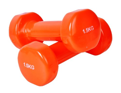 Vinyl Hantel Set 2 x 1,5 kg Orange