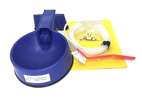 Easy-Clean Auto-Fill Water Bowl with Indoor Installation Kit and 25 foot of Poly-tubing