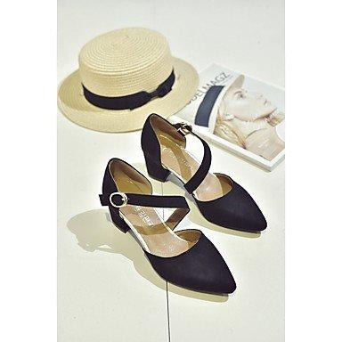 RTRY Zapatillas De Mujer &Amp; Flip-Flops Verano Confort Casual Pu Chunky Heelblack Caminar Blanco US5.5 / EU36 / UK3.5 / CN35