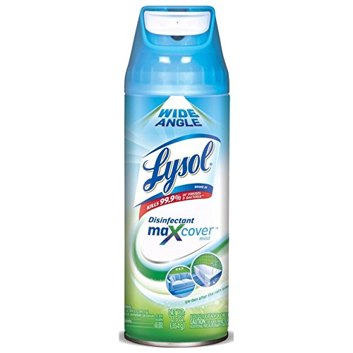 Lysol Max Cover Disinfectant Mist, Garden After Rain, 90oz (6X15oz), 2X Wider Coverage