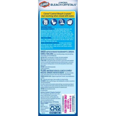 Clorox Control Bleach Crystals DZITHo, 4 Packs (72 Ounces)