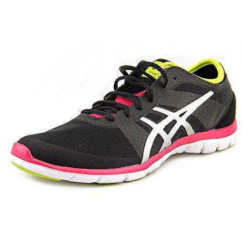 ASICS Women's Gel Fit Nova Cross-Training Shoe,Black/Silver/Hot Pink,7.5 M US