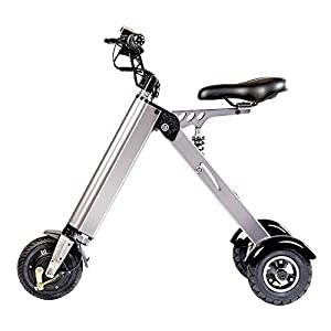 41Sp5gjH46L. SS300 TopMate ES31 Scooter Elettrico Mini Peso Triciclo Pieghevole con Limite di velocità a 3 Marce 6-12-20KM / H e 3 ammortizzatori