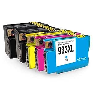 MyCartridge Compatible HP 932 XL 933 XL 932XL 933XL Cartuchos para ...