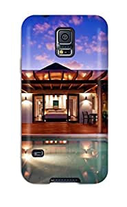 [yQBlSqD2632KjDfN]premium Phone Case For Galaxy S5/ Villas In Full Moon Island Republic Indian Ocean Nature Other Tpu Case Cover