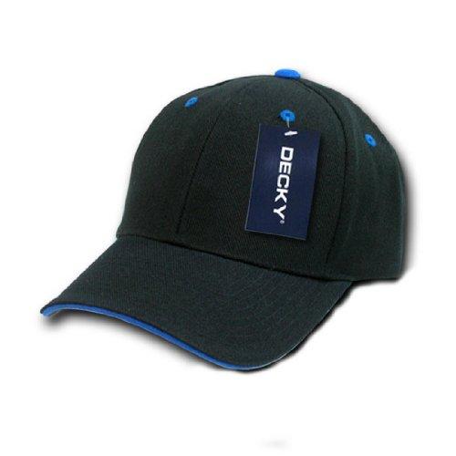 (DECKY Inc Sandwich Visor two Tone Baseball Caps 2003 Black Royal)