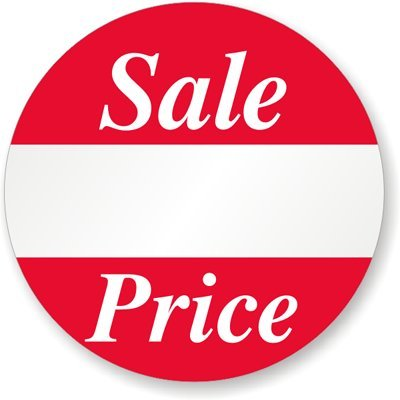 Sale Price, 1'' Diameter, Printed Red Ink, White Semigloss, Removal Label, 500 Labels / Roll by XpressTags