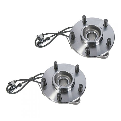 Front Wheel Hub & Bearing Pair Set for Chevy GMC Blazer Jimmy 2WD 2x4 w/ABS (Chevy Blazer Wheel Bearings)