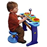 BRUIN LIGHT UP KEYBOARD WITH STOOL - BLUE by Bruin