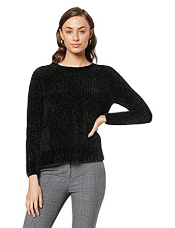 French Connection Women's Chenille Jumper, Black, Extra Small