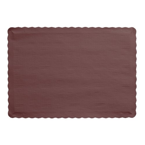 3038 Chocolate (Creative Converting 50 Count Touch of Color Paper Placemats, Chocolate Brown)