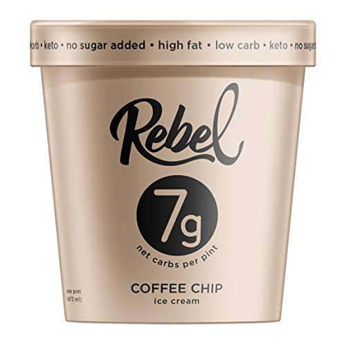 (Rebel Ice Cream - Low Carb, Keto - Coffee Chip (8 Count))