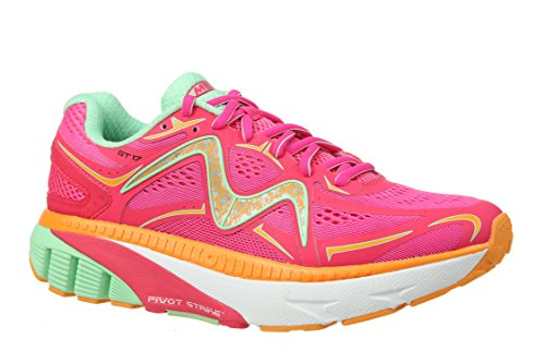 Mbt Zapatos Mujeres Gt 17 Zapatillas Deportivas Leather / Mesh Lace-up Fuchsia / Mint