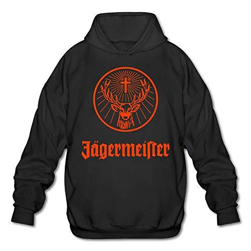 Mens Hooded Sweatshirt Jagermeister Logo Personalized Fashion Customization Black M