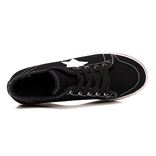 In 3 Tela Sport Donna Baskets Scarpe Di Black Chiusura Modalità Compensato Tallone Lacci HwpETE