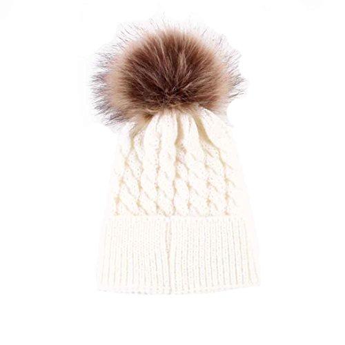 Babybekleidung Hüte & Mützen Longra Hüte Winter-Baby Kids Warm Woolen Coif Hood Kappen Mützen(23*15CM/9.1*5.9