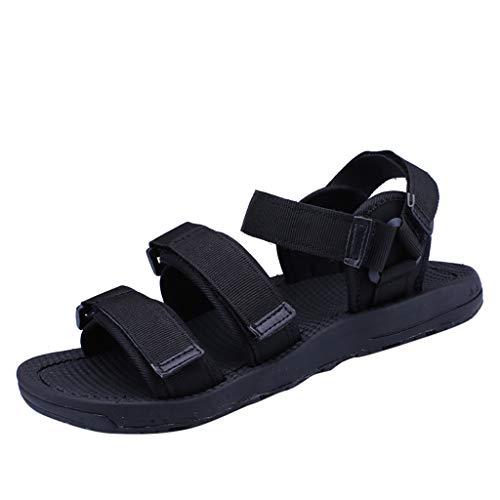 Seaintheson Men's Non-Slip Slippers,Summer Non-Slip Sandals Soft Soles Cool Breathable Casual Beach Shoes Black