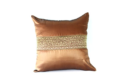 Lotus House Brown Silk Pillowcase - Asian Collection (1, Brown) by Lotus House