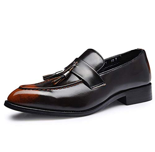 Franges Orange Home Hommes Coiffeur Pour Pointues Décontractées Britanniques Size color À Mon5f Orange 41 Cuir Rétro Chaussures En fCzCq
