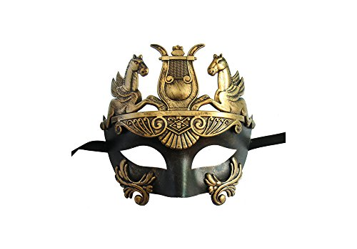 Masquerade Mask for Men Masculine Greek & Roman Soldier Design by Yacanna