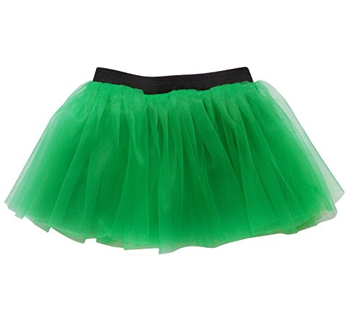 Running Skirt - Teen or Adult Size Princess Costume Ballet Rave Dance or Race Tutu (Kelly Green) (Princess Costumes For Teens)