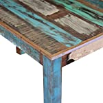 """Canditree Antique Rectangular Dining Table Solid Reclaimed Wood 45.3""""x23.6""""x30"""" for Dining Room Kitchen"""