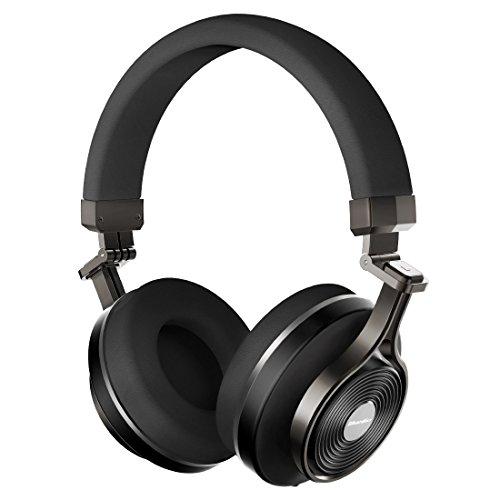 Bluetooth Mp3 Headphone (Bluedio T3 Plus (Turbine 3rd) Wireless Bluetooth 4.1 Stereo Extra Bass Bluetooth Headphones On Ear with Mic, 57mm Driver Folding Wireless Headset, Wired Headphones with Mic/Micro SD Card Slot (Black))