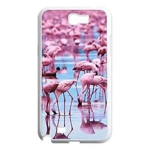 WEUKK Pink Flamingos Samsung Galaxy Note2 N7100 shell case, custom cover case for Samsung Galaxy Note2 N7100 Pink Flamingos, custom Pink Flamingos cell phone case