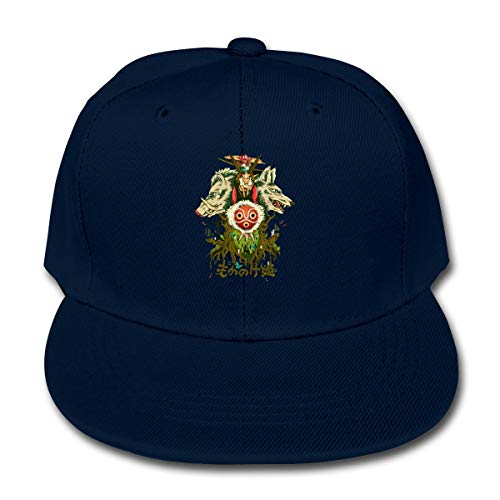 LWOSD Childs Baseball Cap, Princess Mononoke Leisure Plain Cotton Baseball Cap Sun Protect Ajustable Hats for Boys Girls Navy