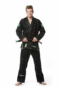 Flow Kimonos Hemp Series BJJ Jiu Jitsu Gi (Black, A2)