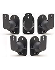 5 Pack of Black Speaker Wall Mount Brackets for Bose,Sony,Panasonic,Samsung and More