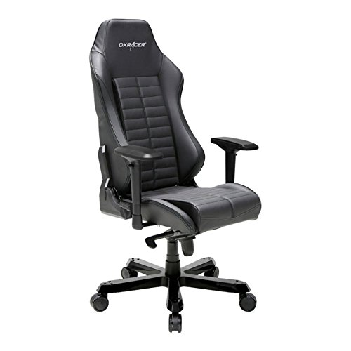 41SpCjrCmyL - DXRacer-OHIS188N-Black-Full-Grain-Leather-Iron-Series-Gaming-Chair