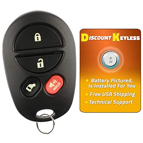 (Discount Keyless Replacement Key Fob Car Remote Toyota Highlander Sequoia Sienna GQ43VT20T)