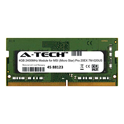 A-Tech 4GB Module for MSI (Micro Star) Pro 20EX 7M-020US Laptop & Notebook Compatible DDR4 2400Mhz Memory Ram - Notebook 020us