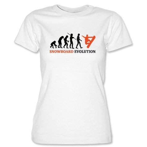 SNOWBOARD EVOLUTION - Weiss - WOMEN T-SHIRT by Jayess Gr. S