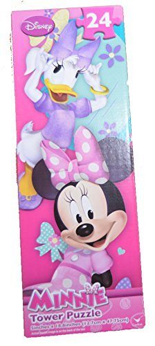 Official Licensed Disney Minnie Mouse & Daisy Duck 24 Piece Tower Puzzle
